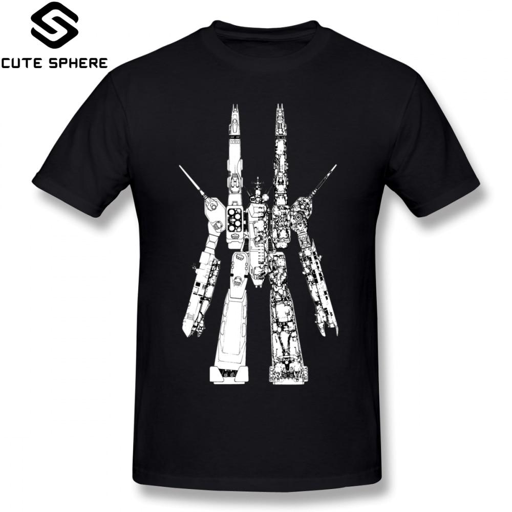 Robotech   T     Shirt   SDF Macross   T  -  Shirt   Short-Sleeve Cute Tee   Shirt   Printed Summer 100 Percent Cotton Men Plus size Tshirt