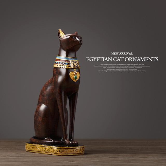 Egyptian Cat resin craft vintage home decor Modern Vintage Baster goddess god pharaoh figurine statue for table ornaments Gift 6