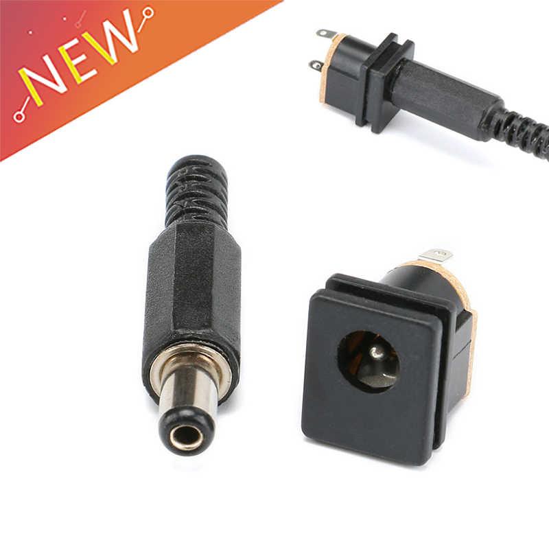 1 paire 2.1mm x 5.5mm prise mâle + prise femelle montage sur panneau prise DC connecteur adaptateur 12 V/3A
