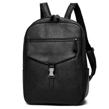 New Men Backpack PU Leather Waterproof Backpack Fashion Travel Bag Casual School Bag For Teenagers Large Laptop Backpack Mochila цена 2017