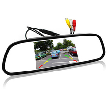 5 inch Digital Color TFT 800x480 LCD Car Parking Mirror Monitor 2 Video Input For Rear