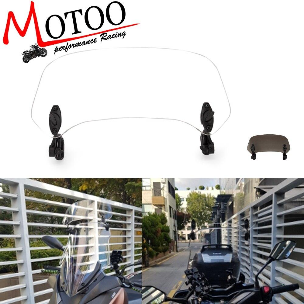 Универсальный мотоцикл поднялся клип на лобовое стекло расширение спойлер воздушный дефлектор для BMW R1200GS XADV скутер tmax