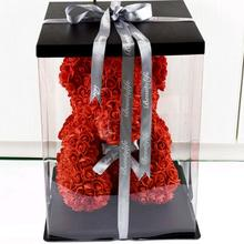 Transparent Decorative Box for Rose Bear Flower Bear