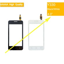цена на 10Pcs/lot For Huawei Ascend Y330 Touch Screen Touch Panel Sensor Digitizer Front Outer Glass Lens Touchscreen No LCD black white