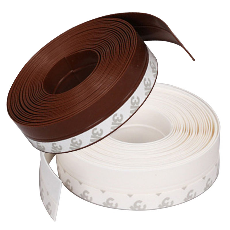 1M/5M Silicone Rubber Weather Stripping Door Bottom Seal Door Draft Stopper Self Adhesive Anti-Collision Stripe Tape