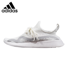 7f527b24d Adidas Deerupt Runner Women s Running Shoes White Grey Lightweight  Breathable Wear-resistant Outdoor Sneakers