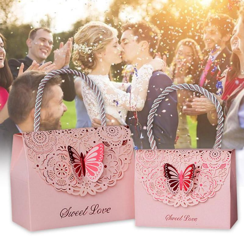 Wedding Gift China: Wedding Candy Box Creative Hollow Carved Fold Butterfly