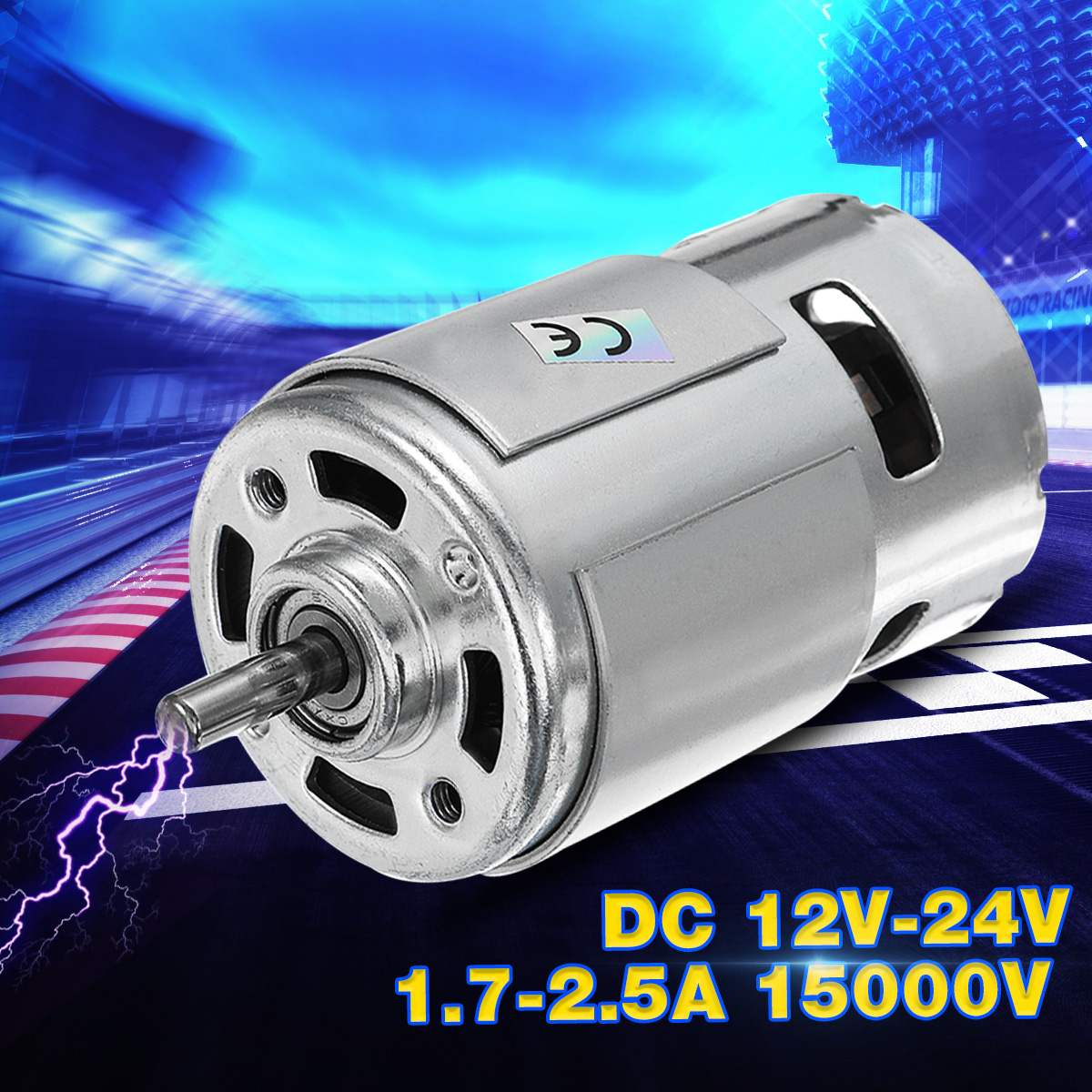 1 PC-24 V DC 12 V 21000 RPM de alta velocidad grande torque DC 775 Motor Herramienta eléctrica nuevo Motor y accesorios Motor DC