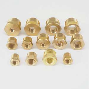 "1/4"" 3/8"" 1/2"" 3/4"" NPT BSPT Male x Female Brass Reducing Bushing Pipe Fittings Connectors Adapter Air Gas Fuel Water"