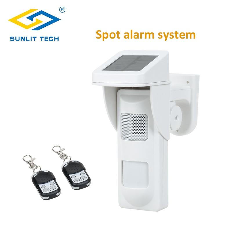 Wireless Outdoor Solar Siren Sensor Alarm PIR Motion Sensor For Smart Home Security System Pet Immun