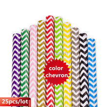 New 25pcs/lot Chevron Paper Straws For Kids Birthday Party Decoration Event Party Supplies 1pc Lovely Mickey Mouse Cupcake Flag(China)
