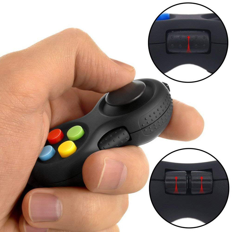 New Decompression Fidget Pad Cube Stress Reliever Squeeze Fun Magic Cube Desk Toy Handle Toys Stress Rainbow Strange-shape