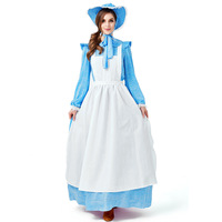 Women Colonial Victorian Fancy Dress Period Gowns Theatre Clothing Halloween Cosplay Costume