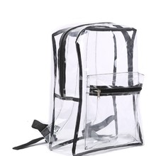 Transparent Pvc Backpack Women Bookbag Candy Clear Jelly Travel Purse Crystal Portable Bags Beach Bag