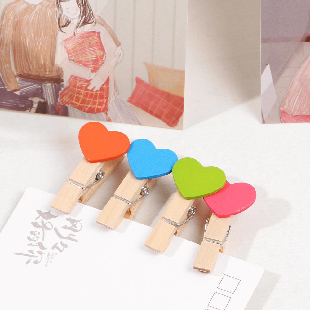 50Pcs/Pack 3.5Small Kawaii Coronary heart Love Picket Garments Picture Paper Peg Pin Clothespin Craft Postcard Clips Residence Marriage ceremony Ornament Collectible figurines & Miniatures, Low cost Collectible figurines &...