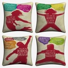 Youth Force Motivation Design Decorative Linen Cushion Covers For Sofa 45x45cm Throw Pillow Case Home Decor Pillowcase Almofada
