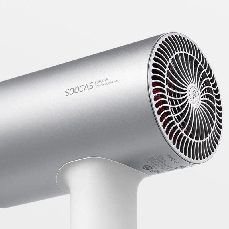 New Original Xiaomi Mijia Soocas Hair Anion H3 Quick-drying Hair Tools 1800W for Xiaomi Smart Home Kits Mi Dryer Design