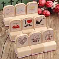3Pcs Korean Lovely Cartoon Wooden Wood Rubber Stamp Stamper Seal Craft Diary Art