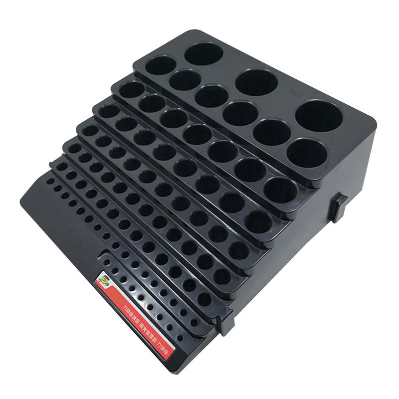 Drill Bit Storage Box Milling Cutter Saving Space Drill Finishing Holder Organizer Case Box For Home DIY Woodworking Use in Drill Bits from Tools