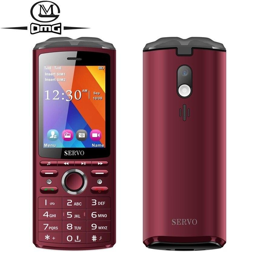 SERVO R25 Bluetooth Musique Russe clavier téléphone mobile Power Bank téléphone portable Musique Haut-Parleur Multifonction Téléphones
