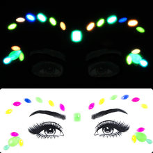 Luminous Temporary Tattoo Sticker Glowing in Dark Fluorescent Waterproof Tattoo Face Sticker Party Makeup Art(China)