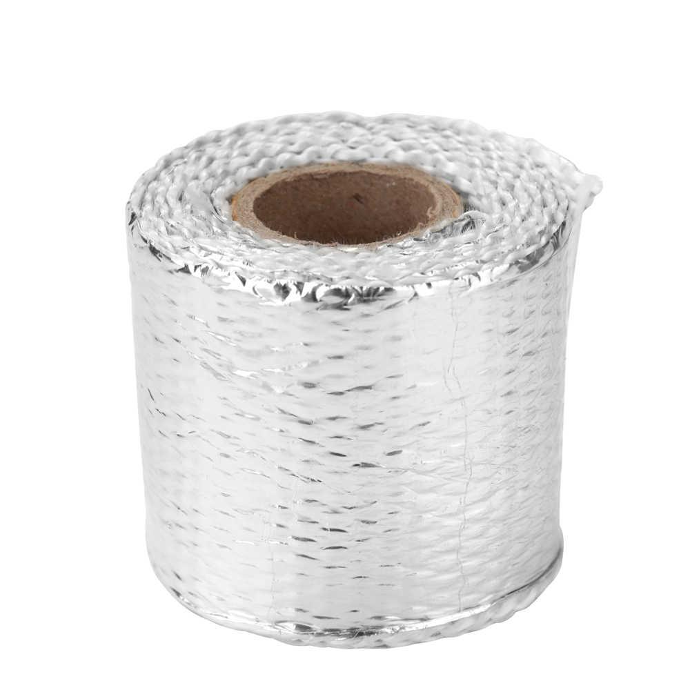 Ruban de protection thermique pratique en fibre de verre rouleau d'échappement de chaleur moto voiture gaine isolée de chaleur Turbo collecteur d'admission bandeau thermique