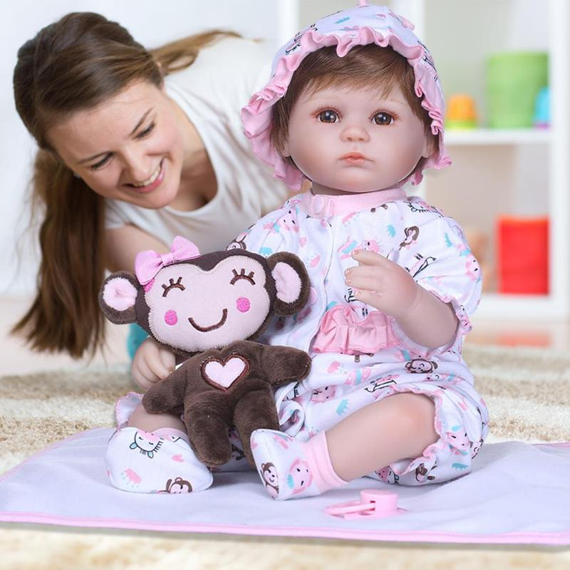 NPK 3D 40cm Cloth Cotton Simulation Doll Lifelike Realistic Vinyl Reborn Baby Playmate Doll Toys Kids Girls Playmate GiftsNPK 3D 40cm Cloth Cotton Simulation Doll Lifelike Realistic Vinyl Reborn Baby Playmate Doll Toys Kids Girls Playmate Gifts
