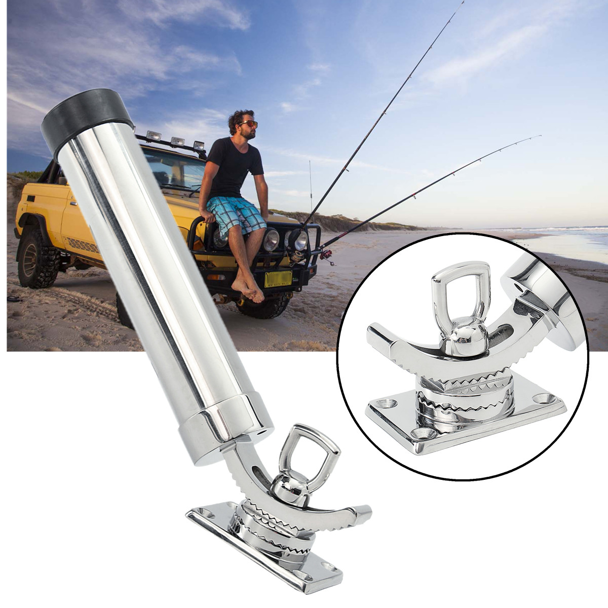 Fishing Adjustable Rod Holders 316 Stainless Steel Deck Mount For Boat Rod Pod fishing Tool 90 Degree Up-Down Adjustable DurableFishing Adjustable Rod Holders 316 Stainless Steel Deck Mount For Boat Rod Pod fishing Tool 90 Degree Up-Down Adjustable Durable
