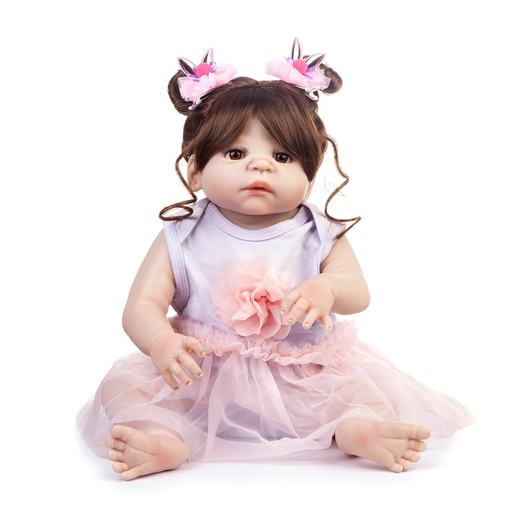 BM0063 Funny Soft Body Silicone Lifelike Dress Reborn Baby Doll Toy Clothes Set For Girls Early Education ToysBM0063 Funny Soft Body Silicone Lifelike Dress Reborn Baby Doll Toy Clothes Set For Girls Early Education Toys