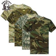 Камуфляжная Мужская футболка для охоты на открытом воздухе дышащая