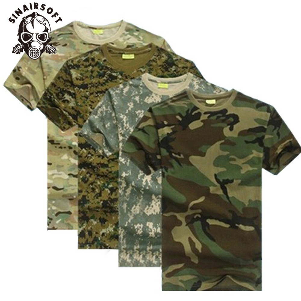 Outdoors Hunting Camouflage Men TShirt Breathable Army Tactical Combat Military Dry Sport Camo Outdoor Camp Tees|tshirt camo|tee tee|tees men - title=