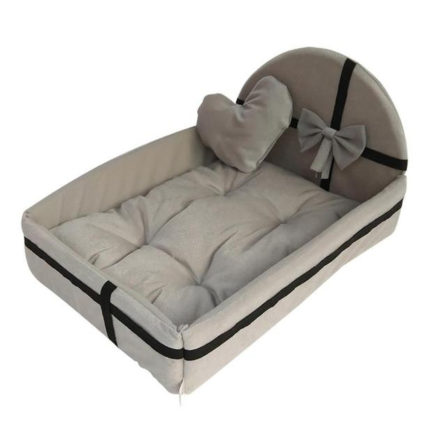 Pet Dog House Dog Bed Nest With Mat Cute Plush Cushion Winter Warm Small Medium Dogs Removable Mattress Cat Bed Dog Puppy Kennel 3