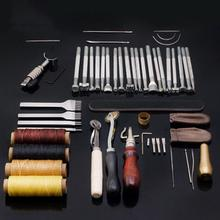 45PCS/Set DIY Leather Tools Set Hand Sewing Engraving Art Durable Practical Accessories Quick Delivery