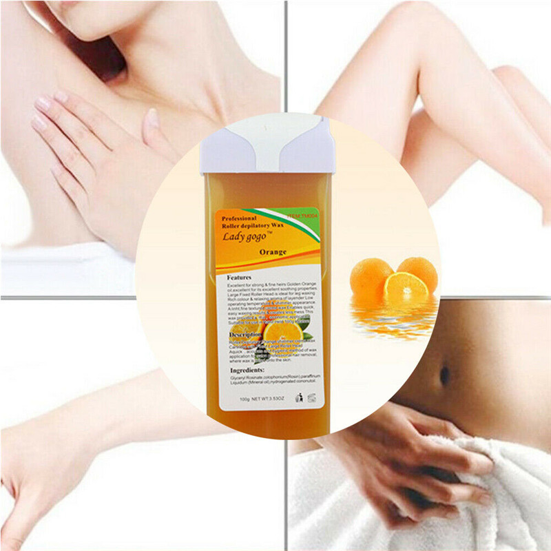 Refillable Hot Depilatory Heater Wax Waxing Hair Removal Body Skin Care 100g in Waxing from Beauty Health