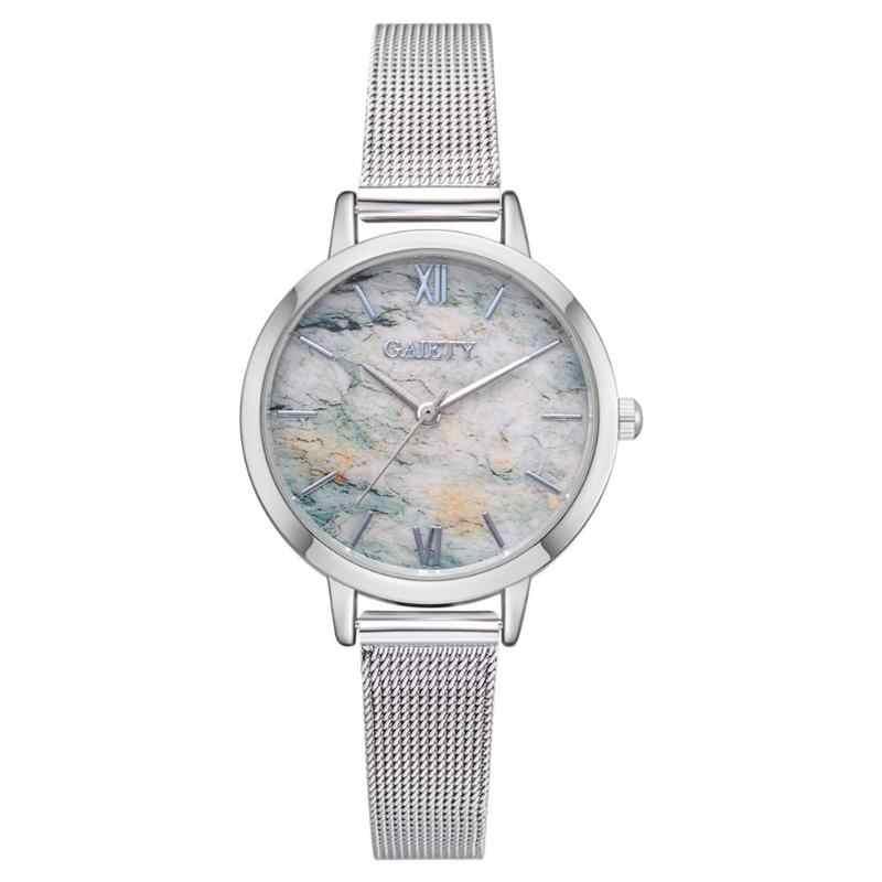 עליצות Relojes Mujer 2019 אופנה טרנדי נשים קוורץ שעון סגסוגת שעון יד תבואה שיש שעון תכשיטי מתנה עבור נשים