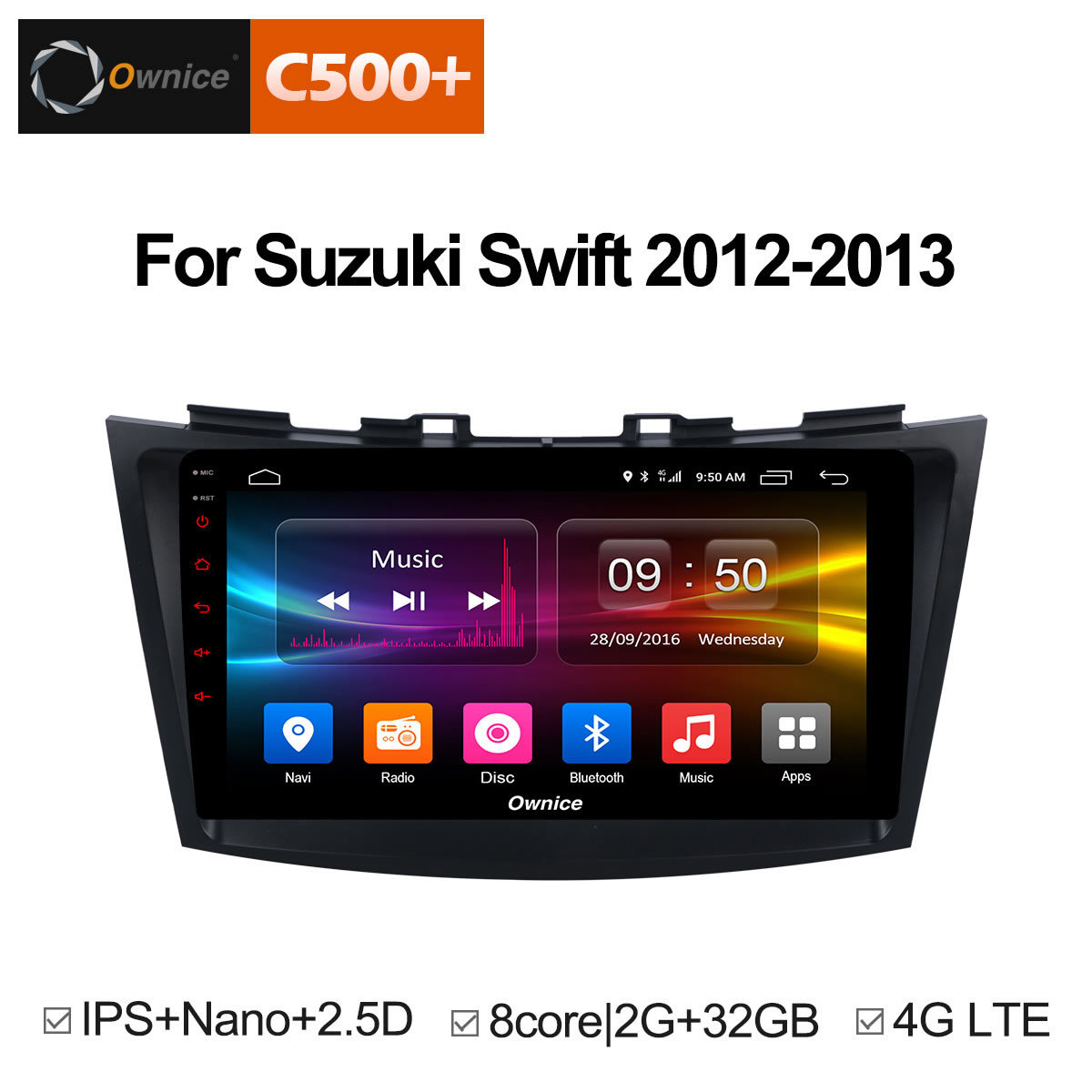 Ownice C500+ G10 Android 8.1 Car dvd player for SUZUKI SWIFT 2012 2013 CAR DVD GPS Navigation System Radio Audio Headunit Stereo
