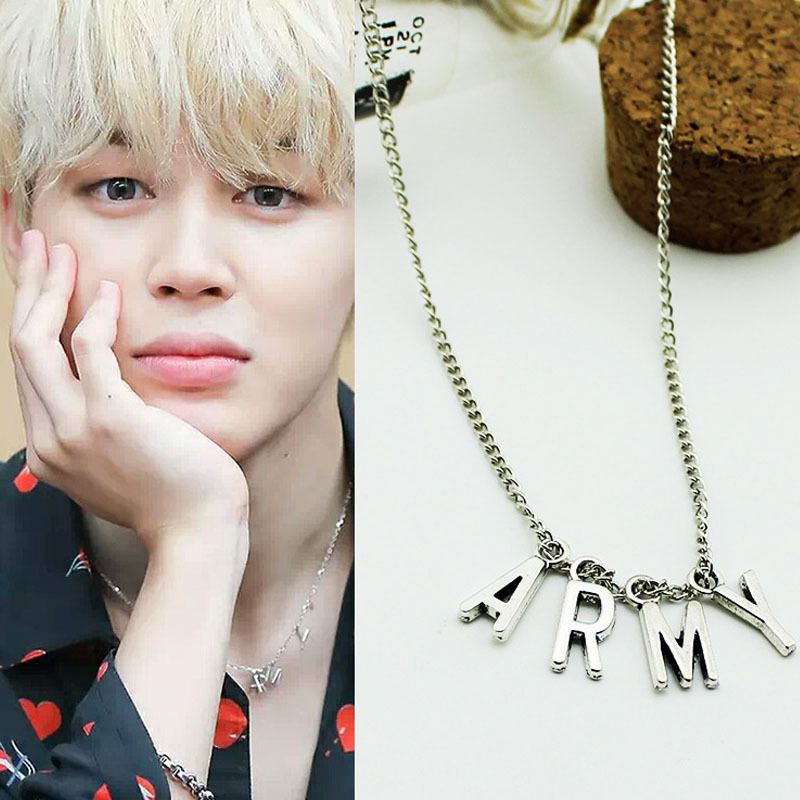 Action & Toy Figures Zhimin Bracelet Korean Concise Tide Student Necklace Woman Clavicle Chain Kpop Bts Bt21 Accessories Letter Bracelet Necklace Goods Of Every Description Are Available