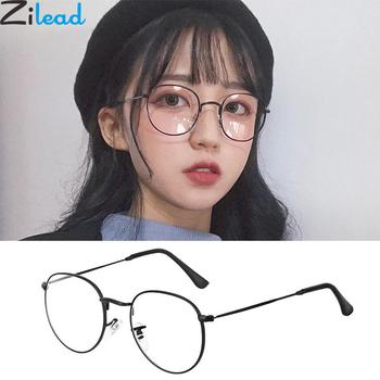 Zilead owalne metalowe okulary do czytania kobiety i mężczyźni przezroczyste soczewki okulary do czytania optyczne spektakl z dioptrii 0to + 4 0 tanie i dobre opinie Unisex Jasne Lustro 4 8cm Poliwęglan 5 1cm Stop 200002146 200002146 200002198 200002198