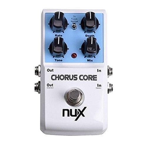 NUX Chorus Core pédale d'effets de guitare boîtier en alliage d'aluminium véritable dérivation
