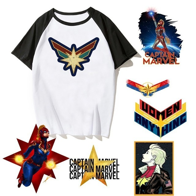 0f6e59f59fb1 Newest Carol Danvers Captain Marvel 2019 T Shirt Men Tshirt Boy T-shirt  America Camisas Men/women Male Streetwear Hiphop Clothes