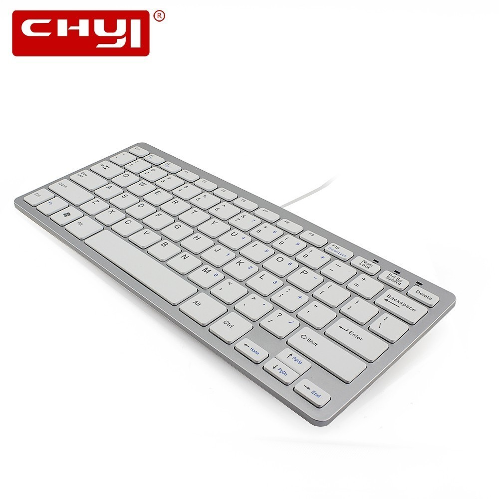 chyi ultra thin wired mini keyboard quiet small size 78 keys english gaming multimedia usb. Black Bedroom Furniture Sets. Home Design Ideas