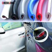 5M Car Styling Auto Door Edge Guard Scratch Strip Protector Anti Collision Rubber Sealing Trim Molding Side Decorative Sticker