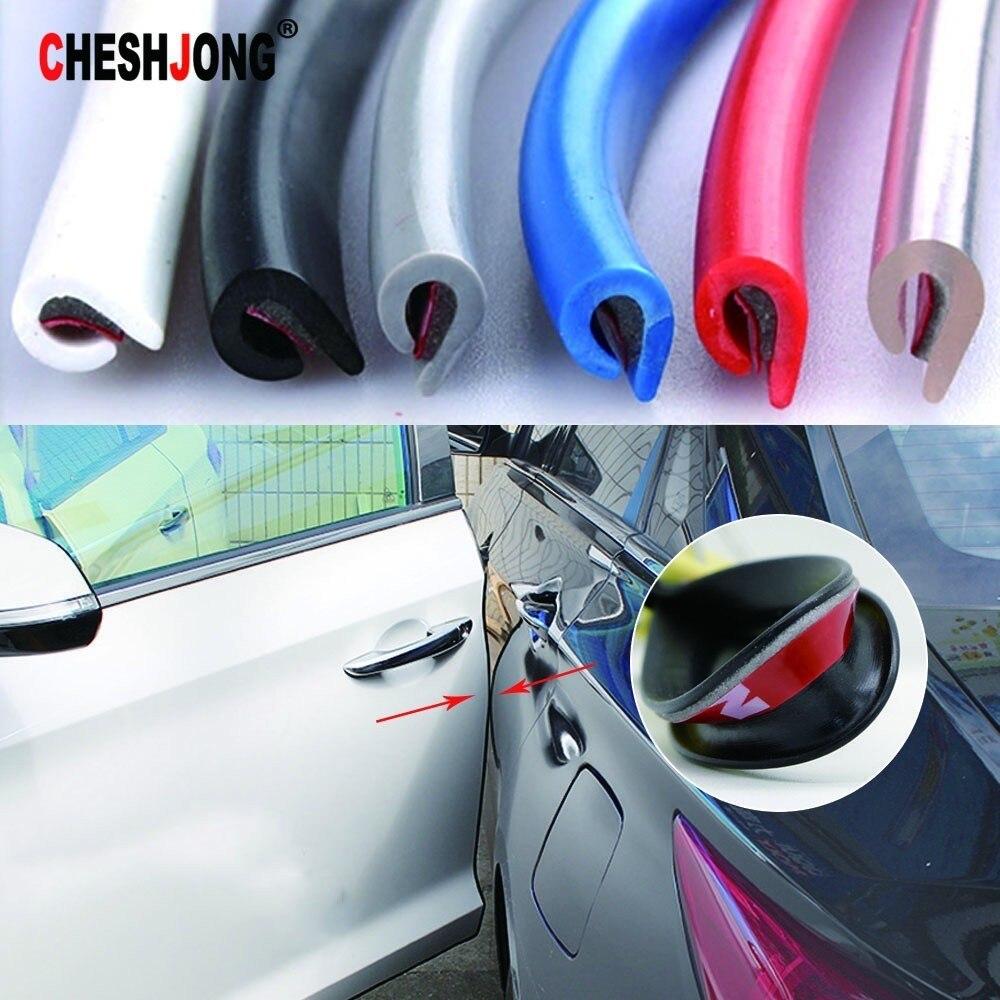 4pcs Car Soft Door Protector Edge Guard Anti-scratch Rub Strips Bumper