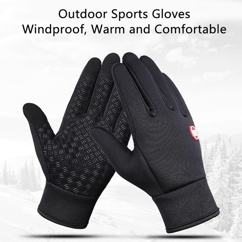 Winter Warm Waterproof Gloves Men Ski Snowboard Gloves Motorcycle Riding Winter Touch Screen Snow Windstopper Glove