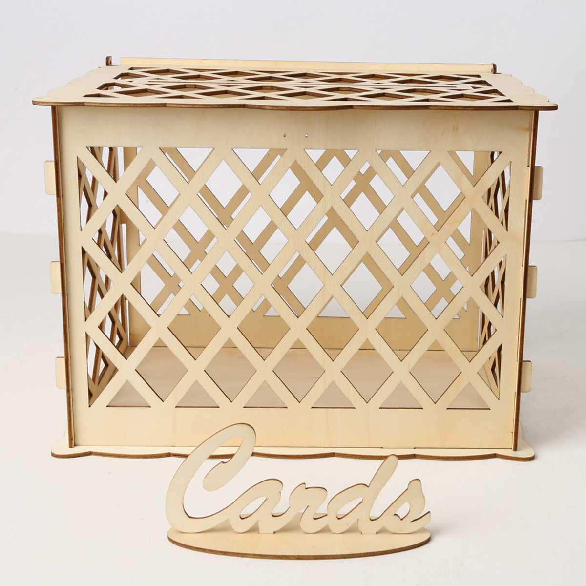30*24*22.5 Fence Shape Wooden Wedding Gift Box Wooden Card Money Box Wedding Decoration Supplies For Birthday Party30*24*22.5 Fence Shape Wooden Wedding Gift Box Wooden Card Money Box Wedding Decoration Supplies For Birthday Party