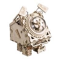 AUGKUN Machine Dog Crafts DIY Innovative Gifts 3D Wooden Music Box Mechanical Music Box Robot Home Decoration Ornaments
