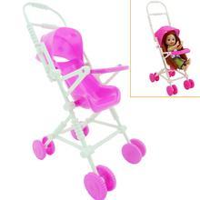 1 Unidades vivero casa de muñecas Rosa bebé transporte cochecito carro  muebles para muñeca Barbie hermana Kelly para Simba acces. a5aadaa854c
