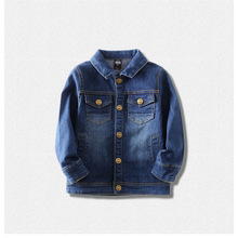 цена на 2019 new children's  denim jacket. Boys and girls coat tops