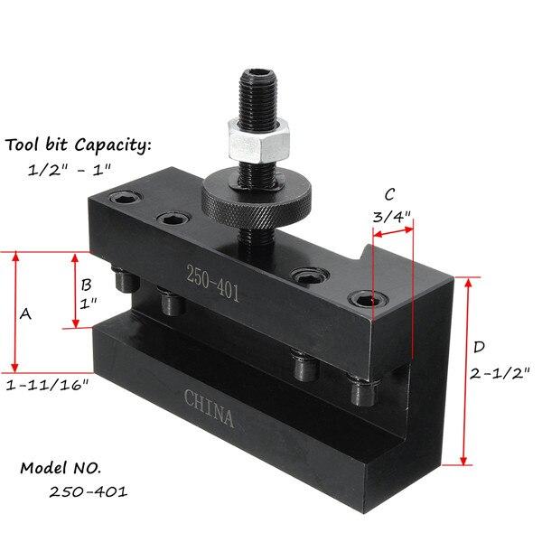 250-401 CNC Tornio Strumento di Supporto Cambio Rapido Strumento di Post Taglierina Vite del Supporto Kit Set Boring Bar Tornitura di Fronte supporto Chiave