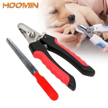 HOOMIN obcinacz do paznokci do paznokci dla psów profesjonalna maszynka do strzyżenia obcinacz do paznokci akcesoria dla psów Grooming nożyczki produktów dla zwierząt domowych ze stali nierdzewnej tanie i dobre opinie Nailclippers STAINLESS STEEL 18852